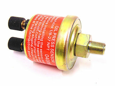 Universal 1/8 NPT Oil Pressure Replacement Sensor Sender For Aftermarket Gauge