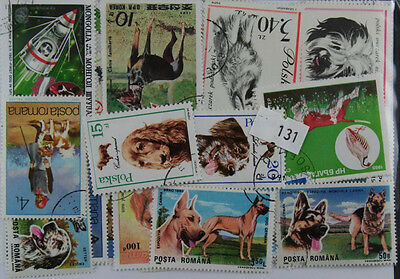 100 Dogs stamps in packet  (131)