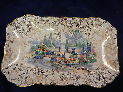 Vintage Lancaster Sandland Crinoline Lady In An Old World Garden Chintz Dish