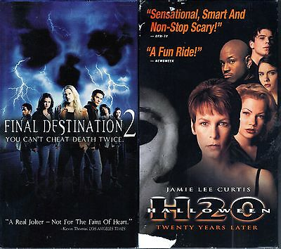 Final Destination 2 (2003, VHS) & Halloween H2O (VHS, 1998) - 2 Horror VHS Tapes