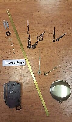Clock Kit -Pendulum Battery Quartz Movement Kit- Time Only - NEW! USA Made (605)