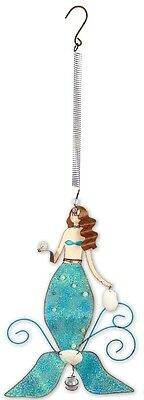 """19.5"""" MERMAID BOUNCY MOTION METAL GARDEN VINTAGE CLOTHES SHOES HANDBAG JEWERLY"""