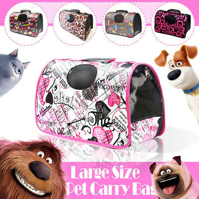 Large Size Pet Carry Bag Sweet& Cute PetsHome Dog Cat Puppy Carrier