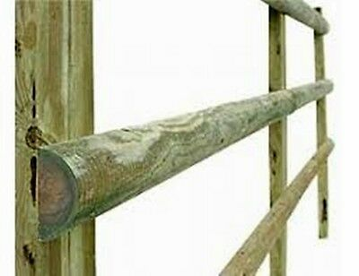 1.8m (6ft) x 100mm (4'' ) wooden treated fence rails 4 post & rail fencing wood