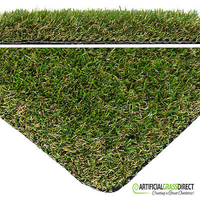 35Mm Chelsea Artificial Garden Grass Fake Turf Artificial Lawn - Free Delivery