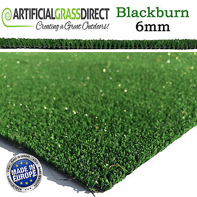 6Mm Budget Cheap Artificial Grass 2M & 4M Wide Any Size Roll Green Garden Lawn