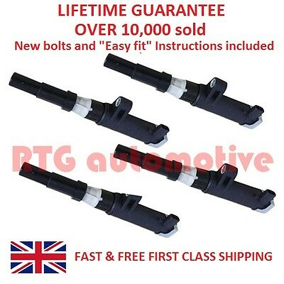 4X For Renault Megane Clio Trafic Laguna Scenic Pencil Ignition Coil Packs/bolts