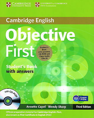 Cambridge OBJECTIVE FIRST Student's Book w Answers,CD-ROM+Audio CDs 3rd ED @New@