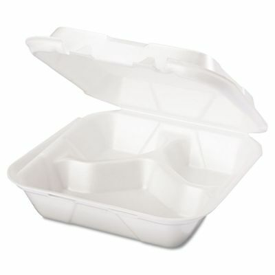 Genpak Takeout Foam Clamshell Food Containers - GNPSN243