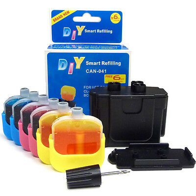 DIY Refill Kit for Canon CL41 CL51 Cartridges refilling printer printing page