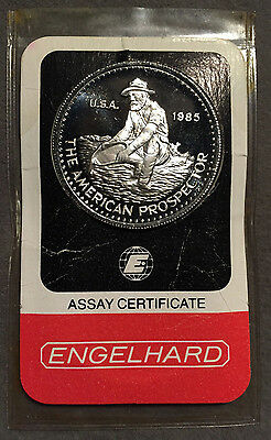 *1985 ENGELHARD Platinum 99.95 American Prospector 1oz in Assay-Uncommon*