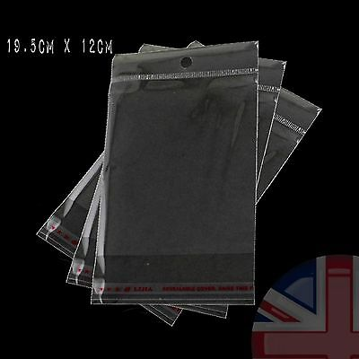 Sealable OPP Clear Poly Bag Cellophane 19.5cm x 12cm - UK Stock - High Quality
