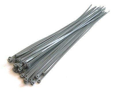 "Toolzone 30Pc 380mm (15"") Silver/Grey Cable Ties"