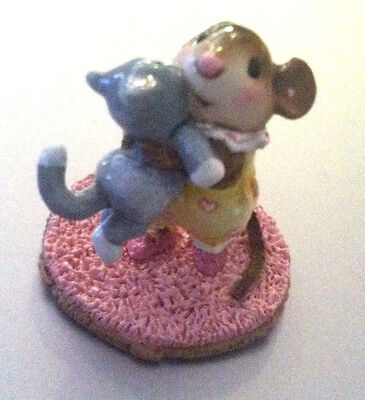 Wee Forest Folk - M-355 Kitty Cuddle - many more WFF's on SALE ! FREE Shipping