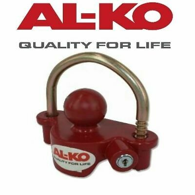 Alko Trailer Coupling Lock Tow Ball Caravan Camper Boat Red Hitch Security