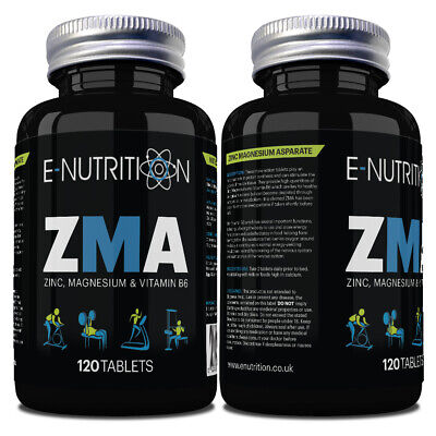 Zma 120 Tablets - Zinc Magnesium & B6 - Testosterone Booster - Growth & Muscle