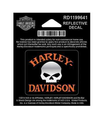 Harley-Davidson Reflective Decal, Willie G. Skull, X-Small Size RD1199641
