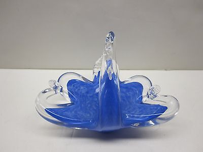 VINTAGE GLASS SWAN PAPERWEIGHT