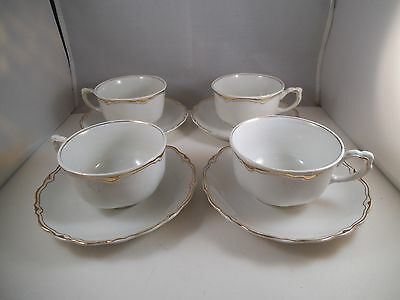 Vintage Set of Four WH Grindley The Imperial Teacup Tea Cups & Saucers England