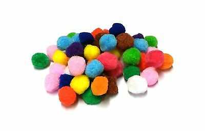 Craft Pom Poms - 10mm and 25mm - Choose Size and Quantity - UK Seller