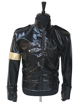 Punk MJ Michael Jackson Black Military Cool Jacket Outerwear Collection imitate