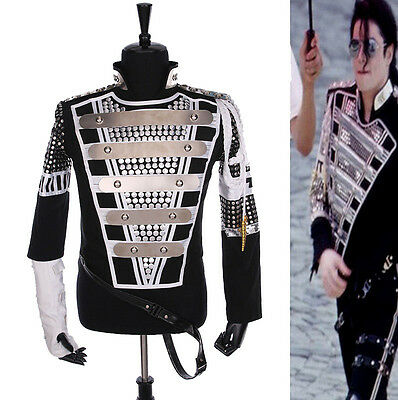 MJ Michael Jackson Munich Teaser Military Jacket History Tour Punk Cool Gift