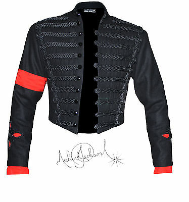 Mj Michael Jackson Mtv Awards Anglicism Classic Military Black Jacket Outewear