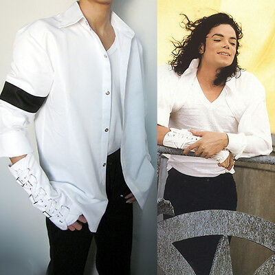 MJ In Memory of Michael Jackson Classic Cool Black and White Shirt  Full Set