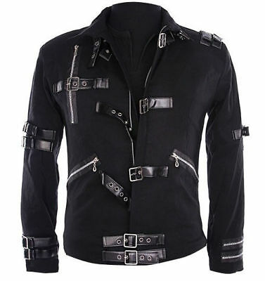 Must Have Michael Jackson Mj Bad Punk Jacket Costume For Super Gift
