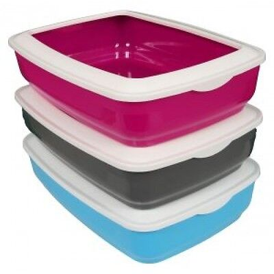 Animal Instincts Large Cat Litter Tray with Rim 43cm