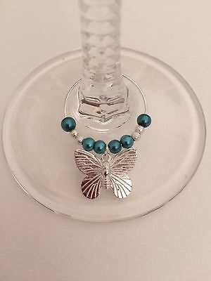 20 Butterfly Wedding Wine Glass Charms. Party,celebration,favours,hens