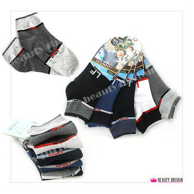 30 Pairs Sport Men Ankle Socks Cotton Rich 92% Many Different Designs Wholesale