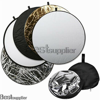 """32"""" 5 in 1 Photo Studio Round Collapsible Multi Disc Light Panel Reflector"""