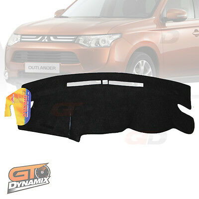 DASH MAT Mitsubishi OUTLANDER ZJ ES LS + ASPIRE NOV/2012-Dec/2014 Black DM1289