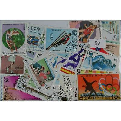 100 Sports stamps. (59)