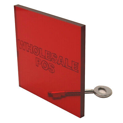 Red Tinted Acrylic Perspex Sheet Plastic Panel Material A5, A4 & A3 In 3 & 5Mm