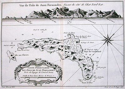 Antique map, Carte Particuliere De L'Isle de Juan Fernandes