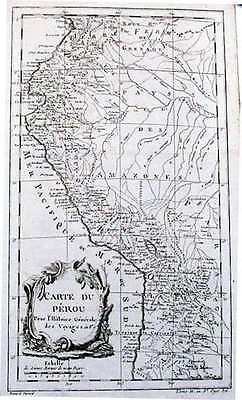 Antique map, Carte du Perou