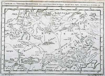Antique map, Carte de la Tartarie Occidentale