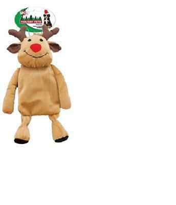 "1 Spot Ethical Holiday Crinkle Crew 14"" Reindeer Dog Toy. Free Ship In The Usa"