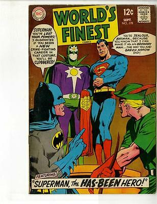 WORLD'S FINEST Comics #178 (Sep 1968, DC); Adams Cover;  (FN+)