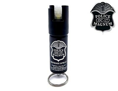 Police Magnum pepper spray .50oz GID Keyring Safety Defense Security Protection