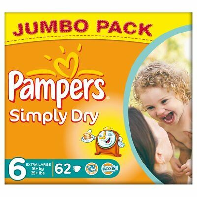 Simply Dry Extra Large 62 Jumbo Pack