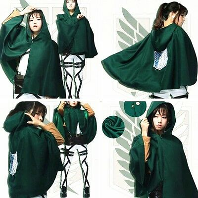 Anime Cosplay Shingeki no Kyojin Cloak Cape Clothe Attack on Titan Costume Party