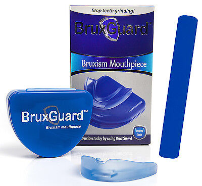 BruxGuard Bruxism Mouthpiece & Retainer Box. Stops & Eliminates Teeth Grinding
