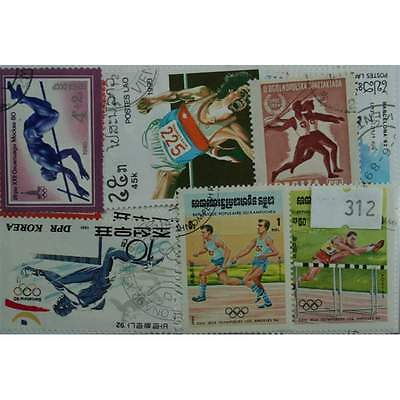 25 Athletics stamps, All different. (312)