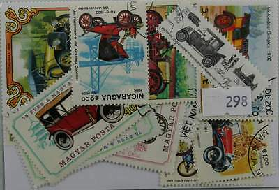 50 Cars stamps, all different. (928)