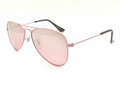 Ray Ban Kids RJ 9506 S 211/7e Pink Silver Mirror 50 New 100% Authentic Sunglass