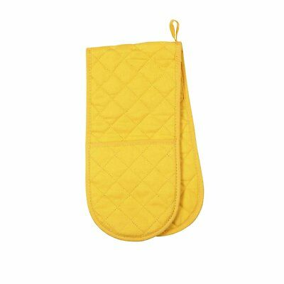 Now Designs Lemon Yellow Double Oven Glove Mitt Quilted Insulated 100% Cotton