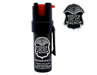 Police Magnum pepper spray .50oz Pocket Clip Safety Defense Security Protection